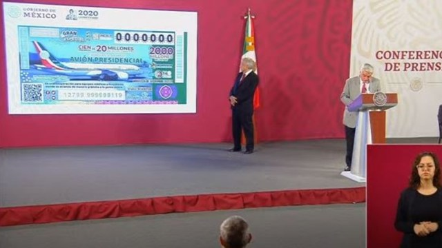 Conferencia AMLO; reinicia venta de cachitos rifa avión presidencial