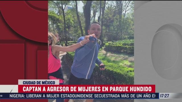 denuncian a hombre por golpear a mujer en parque hundido