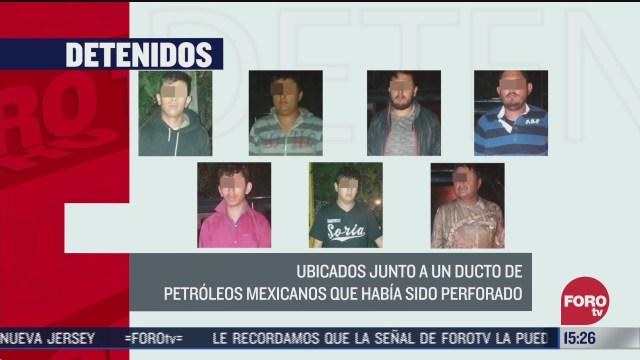 FOTO: 12 de julio 2020, detienen a siete presuntos huachicoleros en huachinango puebla