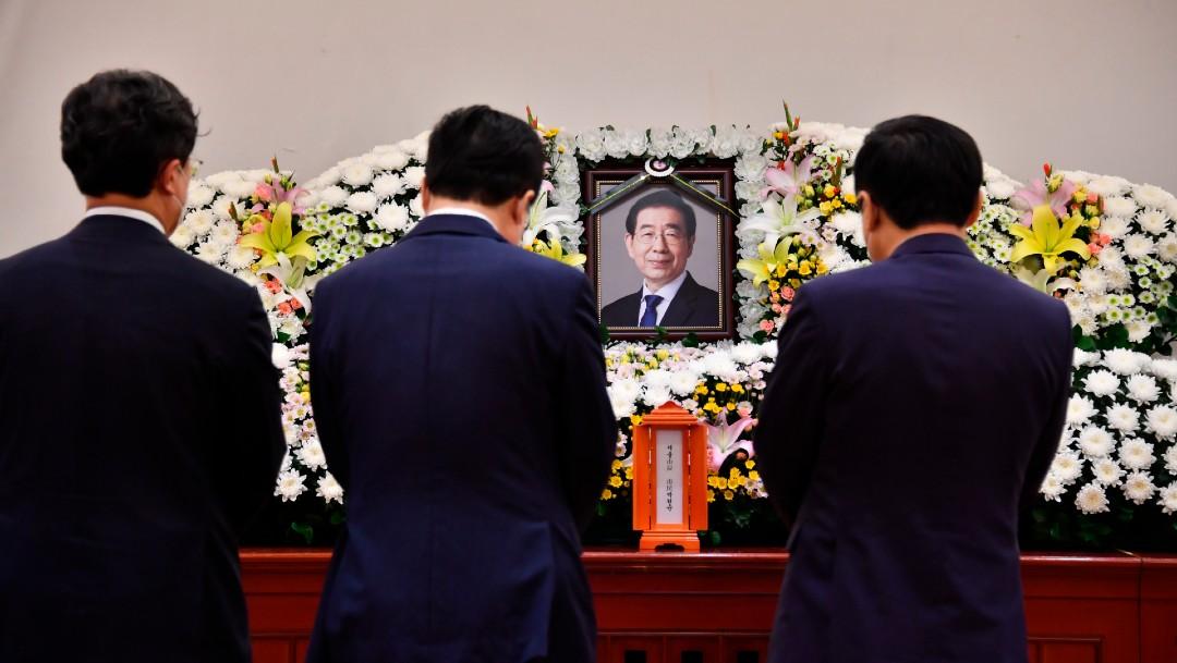 El altar al fallecido alcalde de Seúl, Park Won-soon