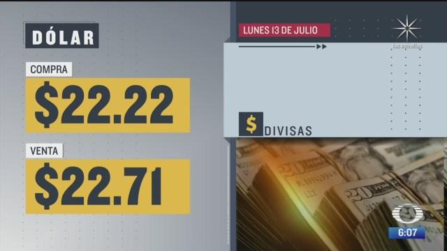 el dolar se vendio en 22 71 en la cdmx 13 julio