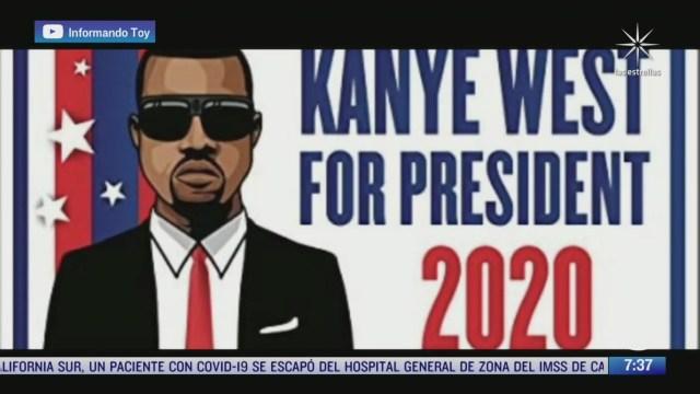 el rapero kanye west se postulara para la presidencia de eeuu