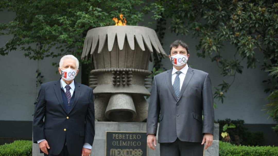 Encienden pebetero en COM a un año de los Juegos Olímpicos de Tokio
