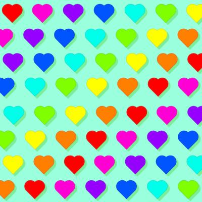 Reto visual: Encuentra cinco flores entre los corazones