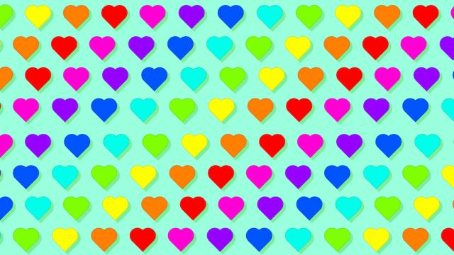 Encuentra las flores entre los corazones, ilustración