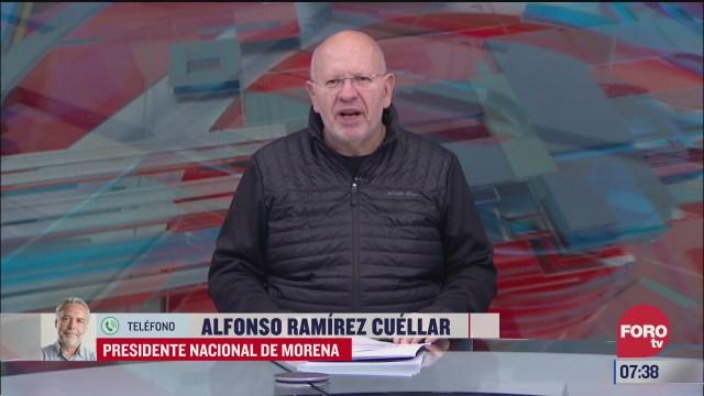 entrevista con alfonso ramirez cuellar presidente de morena en estrictamente personal
