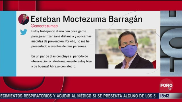 esteban moctezuma titular de la sep no tiene covid