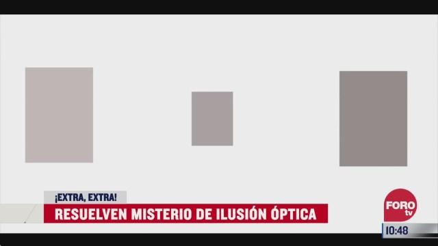extra extra resuelven misterio de ilusion optica