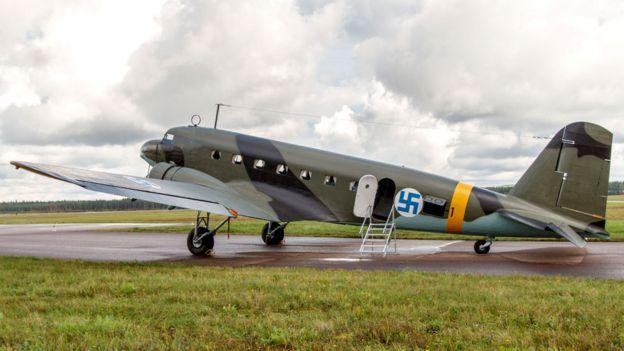Finlandia, avión restaurado