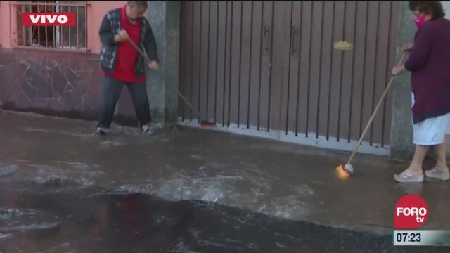 fuga de agua afecta casa de la alcaldia miguel hidalgo en cdmx