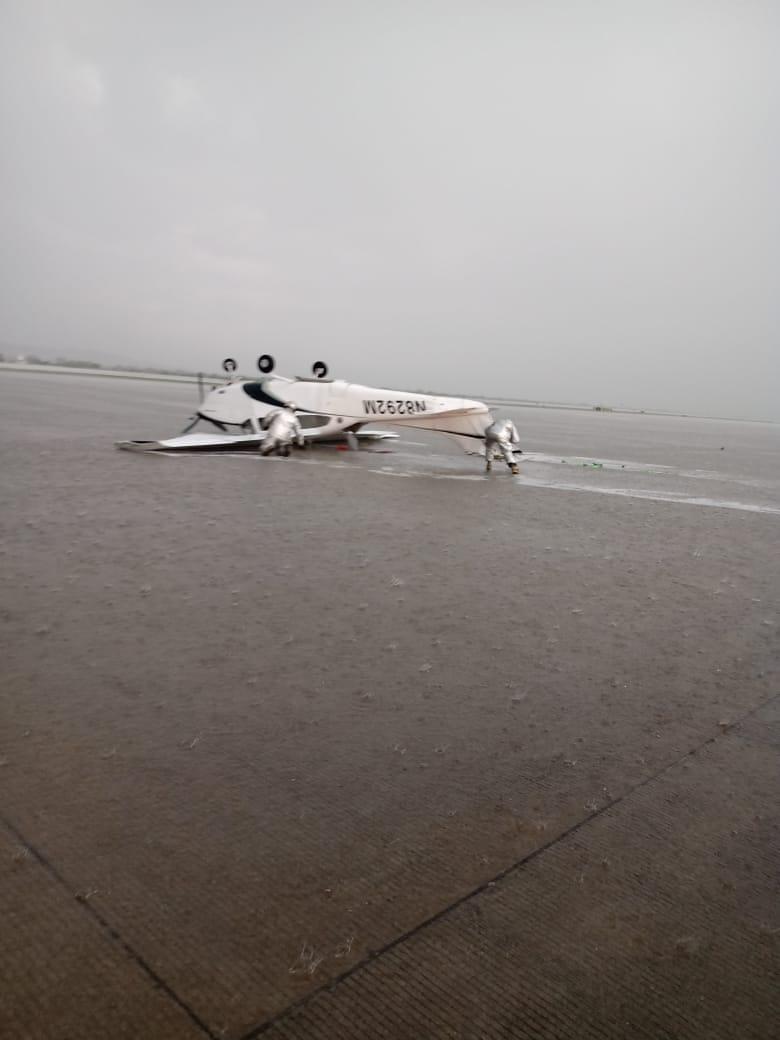Granizada pinta de blanco La Marquesa, aeropuerto y municipios de Querétaro