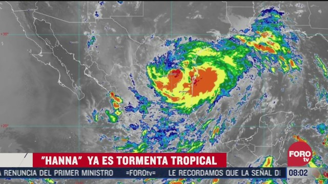 FOTO: 26 de julio 2020, hanna se degrado a tormenta tropical
