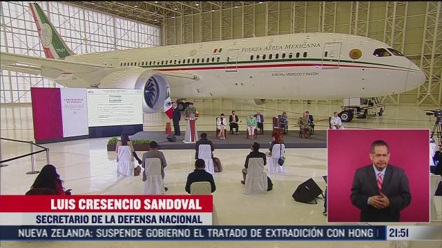 avion presidencial en la mañanaera de amlo hoy
