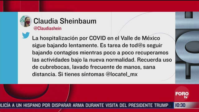 FOTO: 12 de julio 2020, hospitalizacion por coronavirus en cdmx sigue bajando lentamente sheinbaum