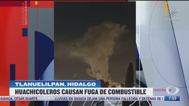 huachicoleros causan fuga de combustible en tlahuelilpan hidalgo