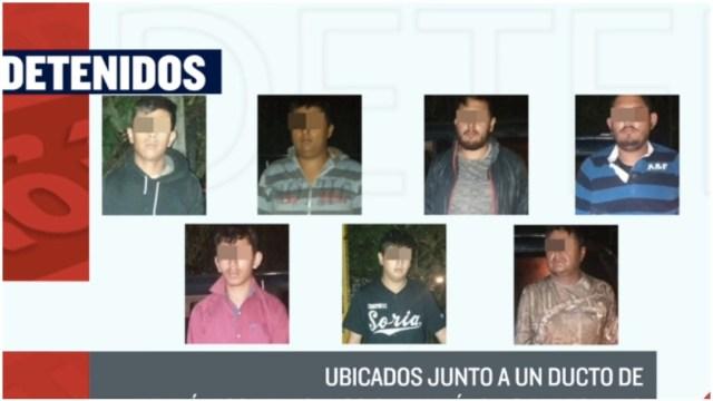 Presuntos huachicoleros detenidos