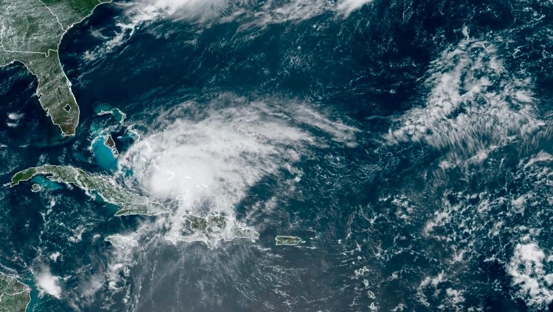 Imagen de satélite del huracán Isaías