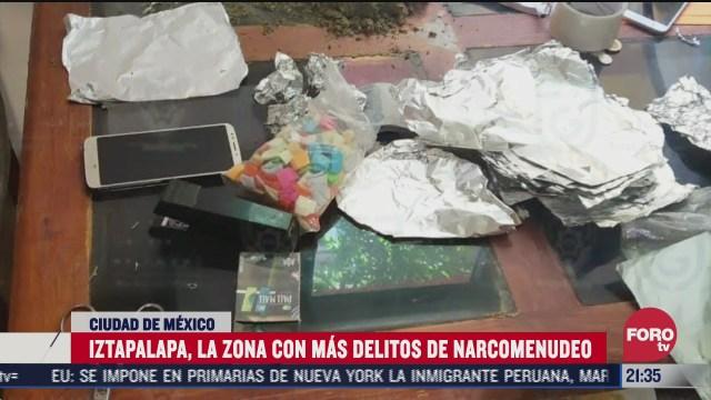 decomiso de drogras, iztapalapa la alcaldia con mas delitos de narcomenudeo en cdmx