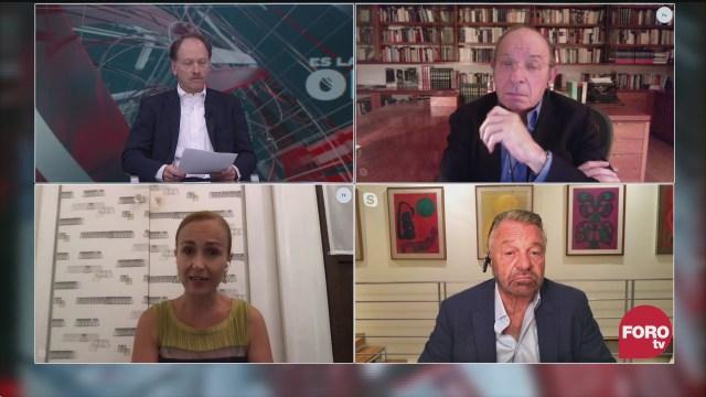 Javier Tello, Héctor Aguilar Camín, Jorge Castañeda y Valeria Moy analizan la entrada en vigor del TMEC