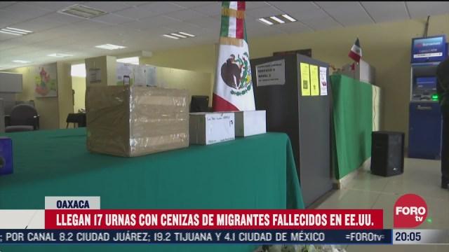 urnas de mexicanos muertos por COVID-19 en EEUU entregadas a familiares en Oaxaca