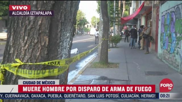 muere hombre por disparo de fuego en iztapalapa cdmx