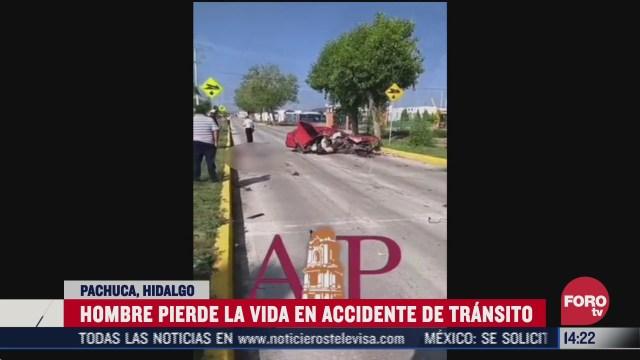 FOTO: 19 de julio 2020, muere un hombre y una mujer resulto herida tras accidente en pachuca