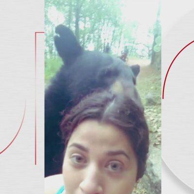 Video: Mujer se tomó selfie con oso en Parque Ecológico Chipinque, Nuevo León