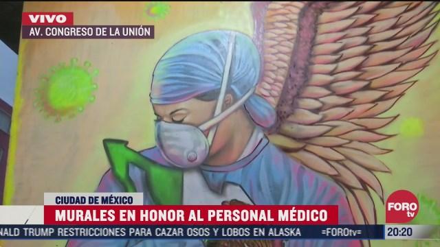 FOTO: 7 de julio 2020, murales en honor al personal medico en cdmx