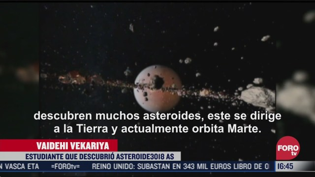 ninas en la india descubren asteroide