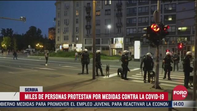 nuevas protestas en belgrado contra las restricciones por covid