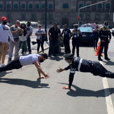 Pablo Ramírez, policía y atleta que venció a entrenador de gimnasio en reto de 'lagartijas'