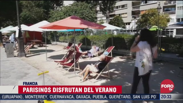 parisinos tratan de recuperar el verano tras confinamiento