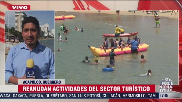 playas en acapulco reanudan actividades