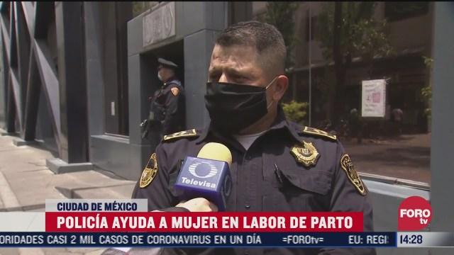 policia de cdmx ayuda a mujer en labor de parto