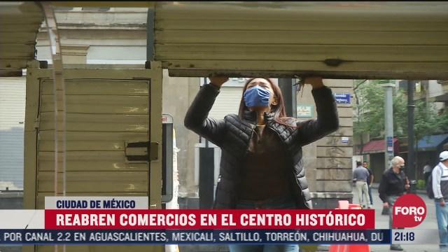 apertura de comercios en el centro historico de CDMX tras pandemia de coronavirus