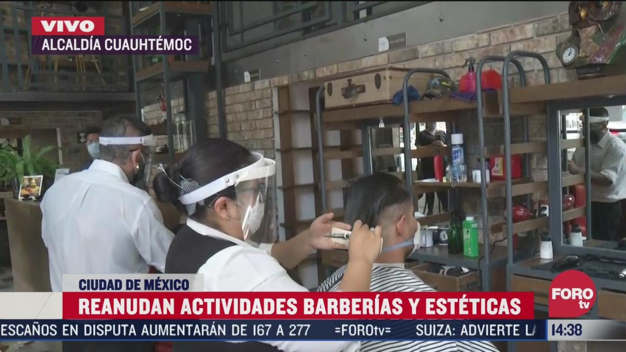 reabren esteticas y barberias en cdmx por semaforo naranja