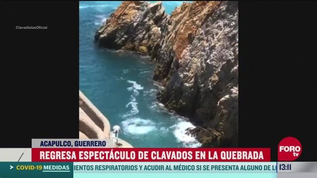 reabren la quebrada en acapulco tras coronavirus