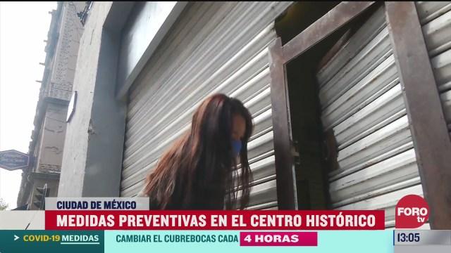 reabren negocios en centro historico de cdmx bajo estrictas medidas sanitarias