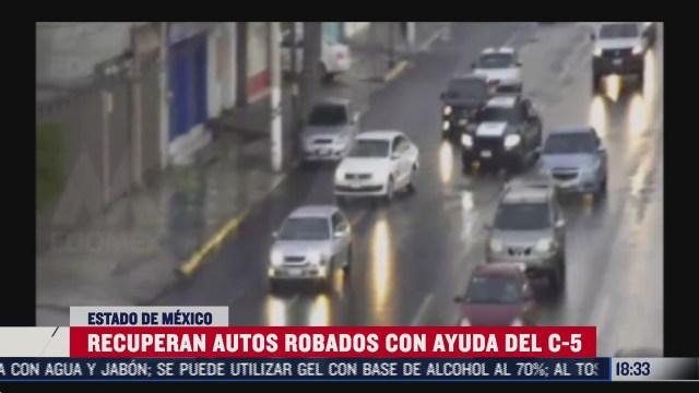 recuperan autos robados con ayuda del c 5 en edomex