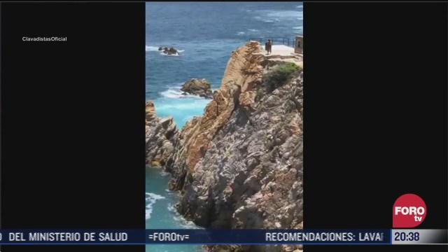clavados en la quebrada de acapulco regresan tras pandemia coronavirus