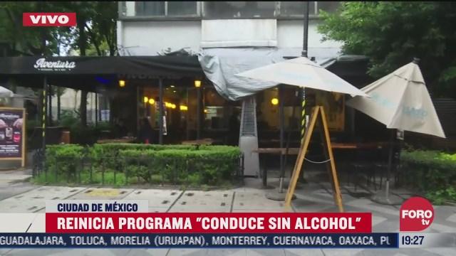 FOTO: 4 de julio 2020, reinicia el programa conduce sin alcohol en cdmx