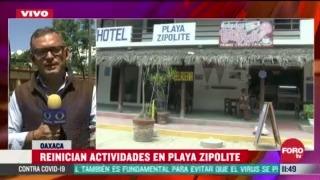 FOTO: 4 de julio 2020, reinician actividades turisticas en playa zipolite en oaxaca