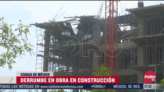 reportan derrumbe de losa en edificio en lomas de tarango cdmx