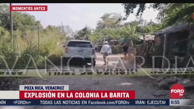 reportan explosion en la colonia la barita en poza rica veracruz
