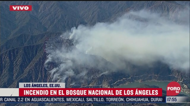 reportan incendio en el bosque nacional de los angeles