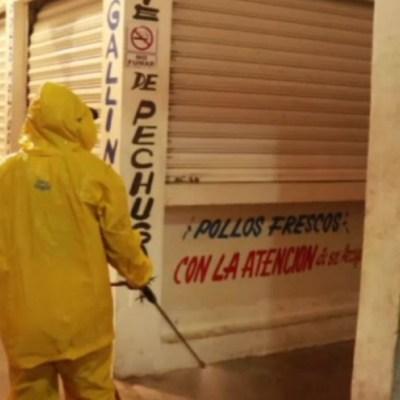 Por COVID-19, realizan sanitización en mercados de Champotón, Campeche