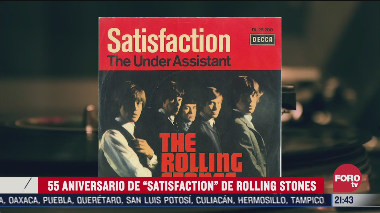 "55 aniversario de ""satisfaction"" The Rolling Stone"