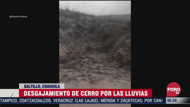 FOTO: 26 de julio 2020, se desgaja cerro en saltillo tras paso de hanna