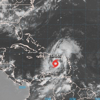 Se forma la tormenta tropical 'Isaías' al sur de Puerto Rico