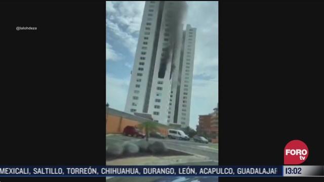FOTO: 5 de julio 2020, se registra incendio en edificio de boca del rio veracruz